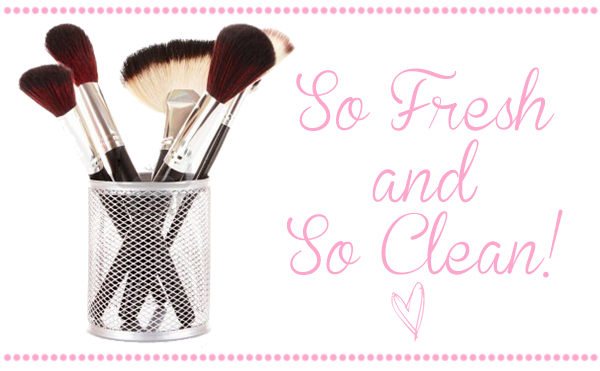 makeup brushes clean